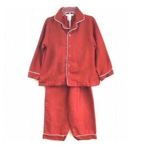 Boys Pottery Barn Red 2-Piece Pajamas
